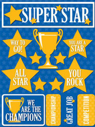 Signature Series Collection  Super Star 5 x 6 Scrapbook Embellishment by Reminisce