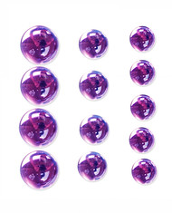 Lavender Large Round Domed Crystal Stickers (12mm, 15mm, 18mm) by Mark Richards USA - Pkg. of 13
