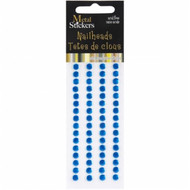 Aqua 5mm Nailheads Metal Stickers by Mark Richards USA