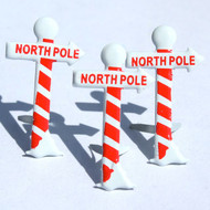 Santa's North Pole Sign Brads by Eyelet Outlet - Pkg. of 12