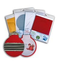 Red Shimmer Ornament Create A Card Cardpack (8 Cards, Inserts and Envelopes) by WorldWin Papers