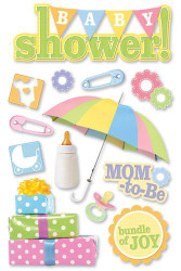Baby Shower Collection 3D Glitter Scrapbook Embellishment by Paper House Productions