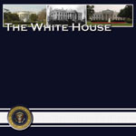 Washington DC The White House12 x 12 Vacation Scrapbook Paper by Scrapbook Customs