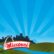 The State Line Collection Missouri 12 x 12 Scrapbook Paper by Reminisce