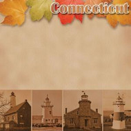 Connecticut 12 x 12 Scrapbook Paper by Scrapbook Customs