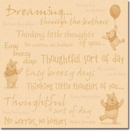 Disney Winnie The Pooh Collection Pooh's Little Thoughts 12 x 12 Scrapbook Paper by Sandylion