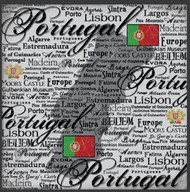 Scratchy Collection Portugal 12 x 12 Scrapbook Paper by Scrapbook Customs