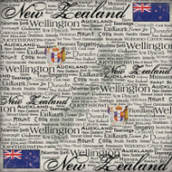 Scratchy Collection New Zealand 12 x 12 Scrapbook Paper by Scrapbook Customs