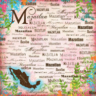 Paradise Collection Mazatlán 12 x 12 Scrapbook Paper by Scrapbook Customs