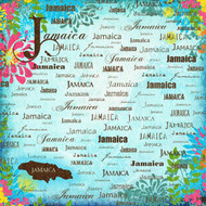 Paradise Collection Jamaica 12 x 12 Scrapbook Paper by Scrapbook Customs