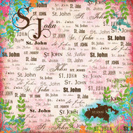 Paradise Collection St. John 12 x 12 Scrapbook Paper by Scrapbook Customs