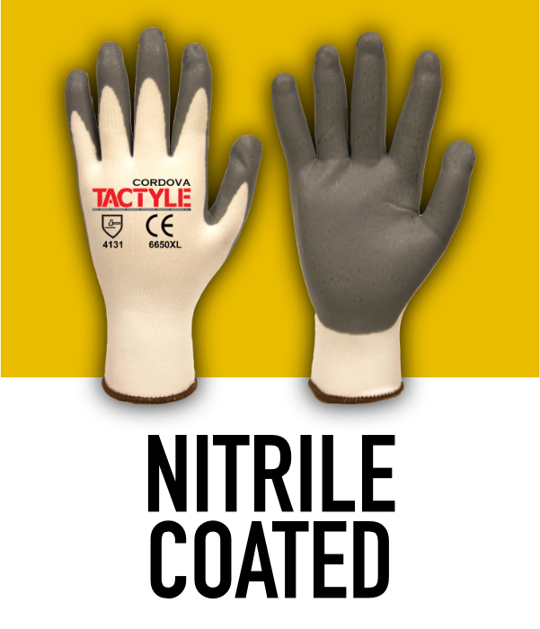 Machine Knit Nitrile Coated Gloves