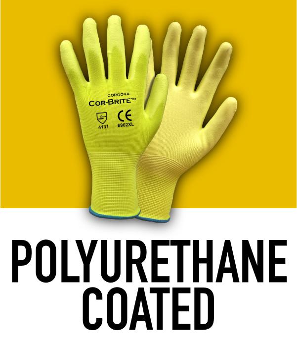 Machine Knit Polyurethane Coated Gloves