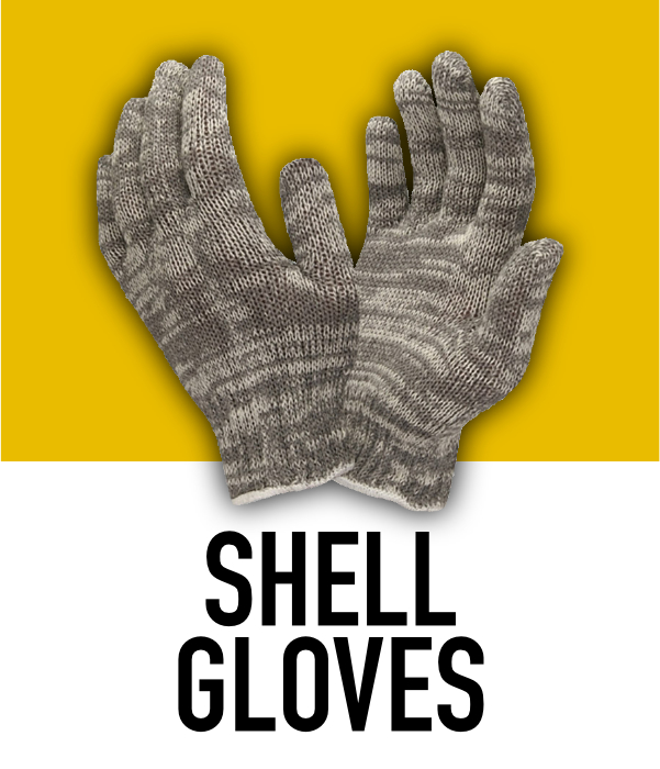 Machine Knit Shell Gloves