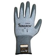 Cordova Monarch PU™ Gray TAEKI5® Gloves, 13-Gauge, Polyurethane Coating, Cut Level 3 (Pair)