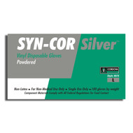 Cordova SYN-COR SILVER™ Industrial Grade Vinyl Gloves, 5-MIL, Powdered (Case of 1,000)