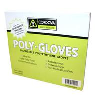 Cordova Low Density Polyethylene Gloves, 1.25-MIL, Embossed Grip (Case of 10,000)