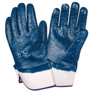 BRAWLER Supported Nitrile Gloves, Rough Fully Coated, Jersey Lined, Safety Cuff, Sanitized®