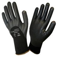 Cordova COR-TOUCH XTRA™ Nitrile Coated Machine Knit Gloves, 13-Gauge, 3/4 Coating, Black Nitrile Dots (Dozen)