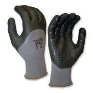 Cordova CONQUEST MAX™ Nitrile Coated Machine Knit Gloves, 3/4 Coating, Black Nitrile Dots (Dozen)