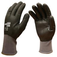 Cordova CONQUEST ULTRA™ Nitrile Coated Machine Knit Gloves, Full Coating, Black Nitrile Dots (Dozen)