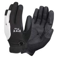 PIT PRO™ Leather Palm Mechanics Gloves, Black/White