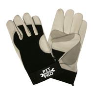 PIT PRO™ Goatskin Mechanics Gloves, Black
