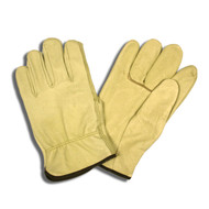 Cordova Standard Pigskin Leather Drivers Gloves, Unlined, Elastic Back, Straight Thumb (Dozen)