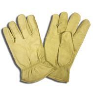 Cordova Standard Pigskin Leather Drivers Gloves, Unlined, Elastic Back, Keystone Thumb (Dozen)