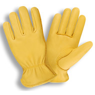 Cordova Select Deerskin Leather Drivers Gloves, Unlined, Elastic Back, Keystone Thumb (Dozen)
