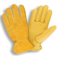 Cordova Select Deerskin Leather Drivers Gloves, Split Deerskin Back, Unlined, Elastic Back, Keystone Thumb (Dozen)