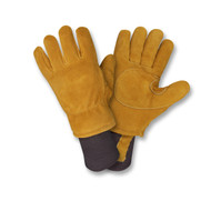 Cordova FREEZEBEATER® Side Split Cowhide Leather Gloves, C150 Thinsulate® Lined, Knit Wrist, Russet (Pair)