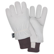 Cordova FREEZEBEATER® Side Split Deerskin Leather Gloves, Kevlar® Sewn, C150 Thinsulate® Lined, Knit Wrist, Gray (Pair)