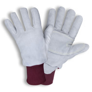 Cordova FREEZEBEATER® Side Split Cowhide Leather Gloves, Kevlar® Sewn, C200 Thinsulate® Lined, Knit Wrist, Gray (Pair)