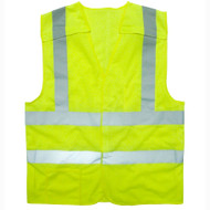 Cordova Class II 5-Point Breakaway FR Lime Mesh Vest, 2-Inch Reflective Tape