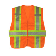 Cordova Class II Expandable Mesh Vest, Two-Tone Trim/Reflective Stripes