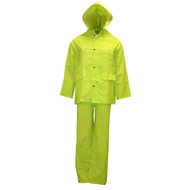 Cordova STORMFRONT HV 3-Piece Rain Suit, .35mm Fabric, Hi-Viz Lime