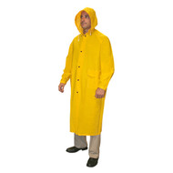 "Cordova RENEGADE 2-Piece Vented Rain Coat, .35mm Fabric, 49"" Length, Yellow"