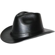 Occunomix Vulcan Cowboy Hard Hat, 6-Point Ratchet Suspension, Black