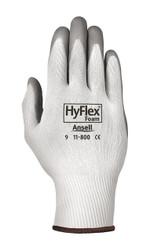 HyFlex Light-Duty Gloves, Foam Coated, Cut Level 1, White