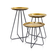 New Casablanca Table (Grey with Brass top)