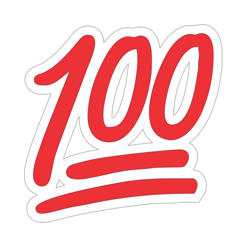 100 Knob Sticker