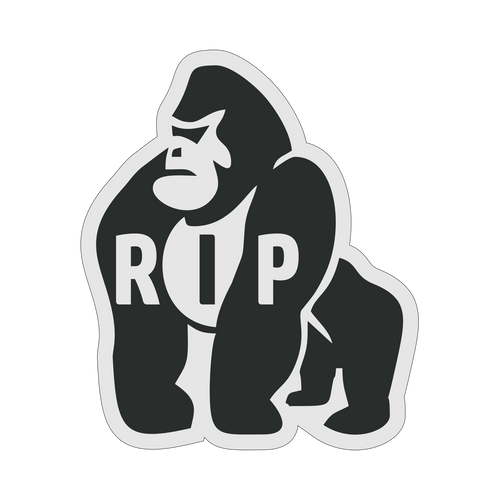Gorilla Baseball Knob Sticker