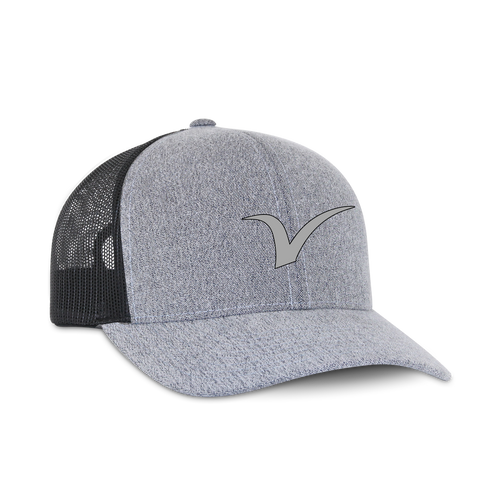 V Logo Road Gray Snapback Hat