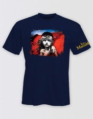 Les Miserables Unisex Navy Flag T-Shirt