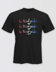 Les Miserables Unisex Black Title T-Shirt