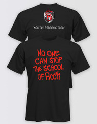 """SCHOOL OF ROCK Adults """"No One Can Stop the School of Rock"""" T-Shirt (Pack of 6) Youth Production"""