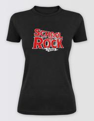 SCHOOL OF ROCK Ladies Glitter Logo T-Shirt - Promo