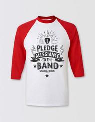 SCHOOL OF ROCK Kids 3/4 Sleeve Pledge Allegiance Top