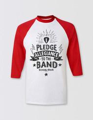 SCHOOL OF ROCK Adults 3/4 Sleeve Pledge Allegiance Top